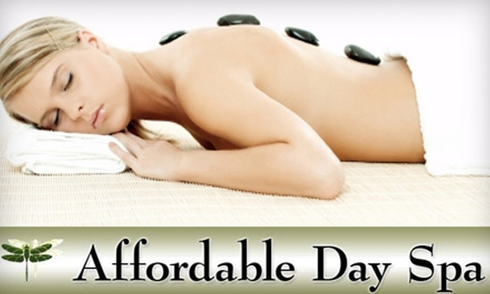 Affordable Day Spa - Jefferson: $55 for a 60-Minute Hot Stone Massage and a 75-Minute Personalized Facial at Affordable Day Spa (a $130 Value)