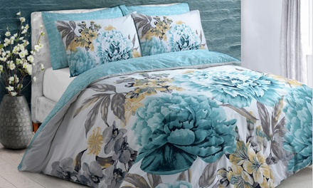 Floral Bloom Reversible Duvet Set