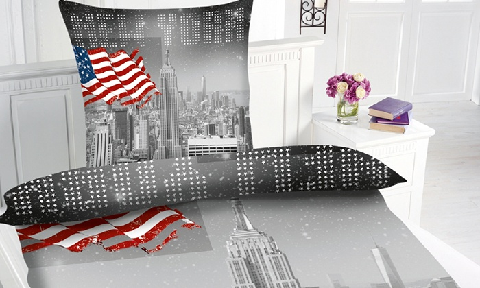 motiv bettw sche skyline new york groupon goods. Black Bedroom Furniture Sets. Home Design Ideas