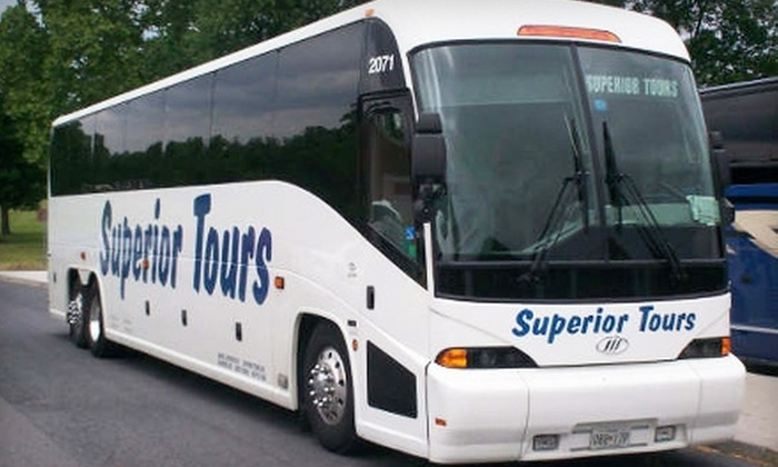 Superior Tours - Multiple Locations: $30 Roundtrip Charter Bus Ride to NYC with Superior Tours (Up To $60 Value)