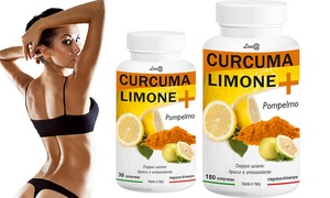 Tot 1 jaar supplementen met kurkuma, citroen en grapefruit voor een afslankend effect (360 tabletten)