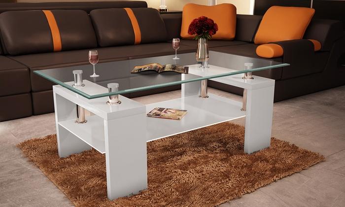 Table basse plateau en verre groupon shopping for Groupon shopping arredamento