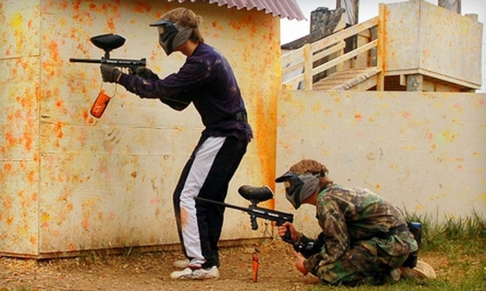 Pev's Paintball Park - Blue Ridge: $59 for a Day of Paintball for Three Including Gear Rental and Paintballs at Pev's Paintball Park in Aldie ($162 Value)