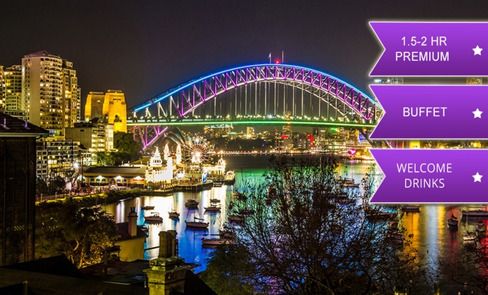 From $35 for a Vivid Sydney Harbour Cruise with Drink and Buffet with Sydney Princess Cruises (From $80 Value)