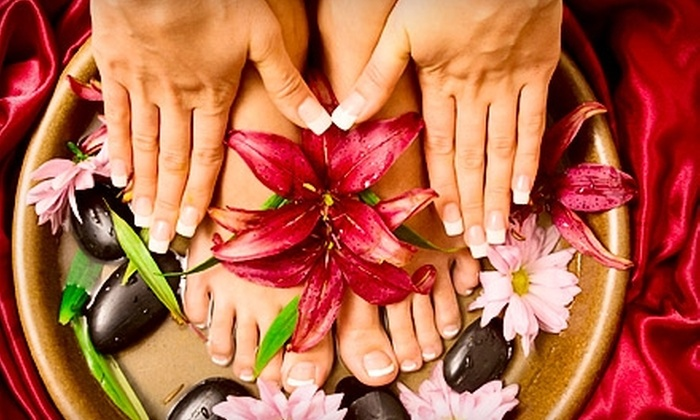 Drop Dead Gorgeous! Day Spa - Westview: $35 for an Ion Cleanse Detox Foot Bath and Manicure at Drop Dead Gorgeous! Day Spa ($70 Value)