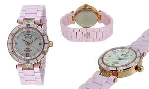 Oniss Women's Diamond Ceramic Swiss Watch at Oniss Women's Diamond Ceramic Swiss Watch, plus 9.0% Cash Back from Ebates.