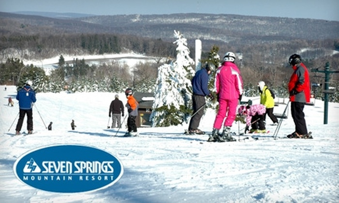 Seven Springs Mountain Resort - Seven Springs: $50 for Two Any-Day, Any-Lift Time Tickets at Seven Springs Mountain Resort