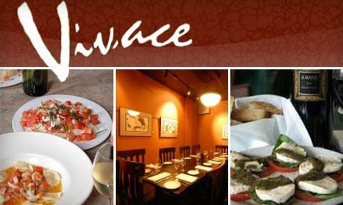 Vivace - Nob Hill: $20 for $40 Worth of Authentic Italian Cuisine at Vivace