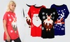 T-shirt ample avec impression de Noël