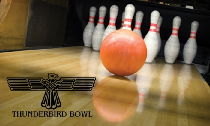 Thunderbird Bowl - Wichita: $6 for Two Games of Bowling for One Bowler, Rental Shoes, a Large Soda, and Nachos at Thunderbird Bowl (Up to $18 Value)