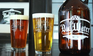 Bad Water Brewing Taproom: Pints and 64-Ounce Growlers with Fills at Bad Water Brewing Taproom (Up to 30% Off). Two Options Available.