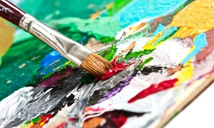 Over Edukated Music & Arts: Painting Class for 1, 2, or 4, or a Private Party for Up to 16 at Over Edukated Music & Arts (Up to 59% Off)