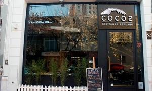 Cocos Resto Bar Peruano: Tapeo fusión + trago a elección para dos o cuatro en Cocos Resto Bar Peruano
