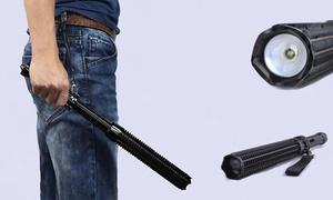 Telescoping Powerful Self Defense Baton LED Flashlight