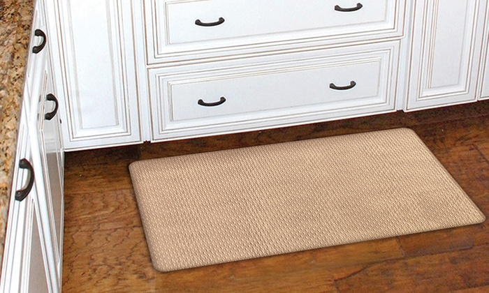 77% off on chef series kitchen mat | groupon goods
