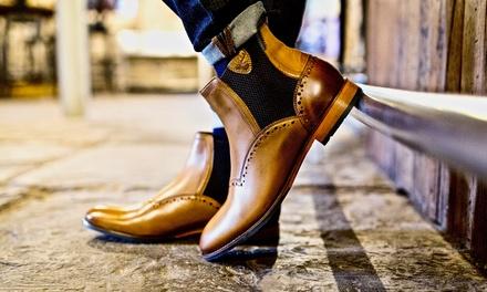 Goodwin Smith Chelsea Herren-Boots Edisford aus Leder in Hellbraun, Braun oder Schwarz (Munchen)