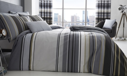 200TC Ashcroft Bedding Selection: Easy Care Duvet Set, Boudoir Cushion or Quilted Bedspread