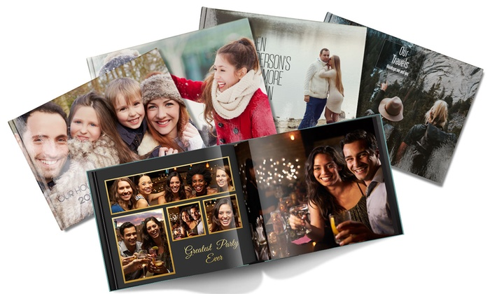 "11"" x 8.5"" Personalized Hardcover Photo Books from Printerpix (Up to 93% Off). Six Options Available."