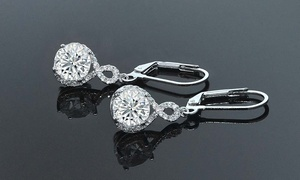 Infinity Crystal Drop Earrings Made with Swarovski Crystals