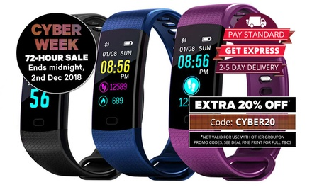 $29.95 for a Colour Screen Waterproof Fitness Tracker with Blood Pressure and HR Monitor
