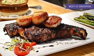 Prime 13: Steaks and Seafood for Two or Four or More at Prime 13 (Up to 45% Off). Four Options Available.