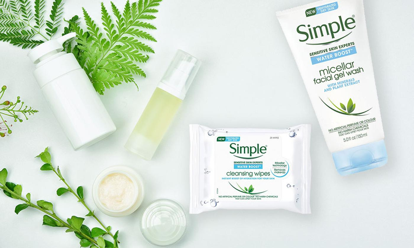 Simple Facial Cleansing Gel and Wipes