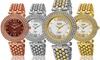 Burgi Women's Swiss-Quartz Diamond-Marker Watch