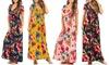 Women's Faux-Wrap Dress. Plus Sizes Available