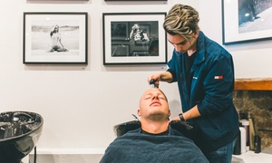 Langanis Barber: Two Men's Grooming Packages ($35) or Langanis Experience Package ($49) at Langanis Barber (Up to $114 Value)