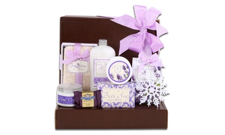 Scents of the Season Lavender Bath Gift Box and Chocolate