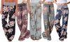 Women's Floral Flare Pants - Plus Sizes Available