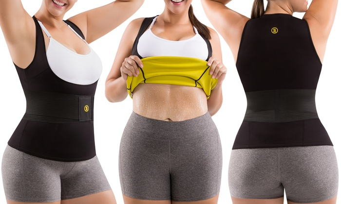 4392a41eb Women s Plus Size Waist Trainer Belt and Hot Cami Shaper