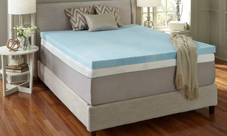 "Simmons Curv 4"" Gel Memory Foam Mattress Topper 288267ba-1caa-11e8-ae7b-5254801ee647"