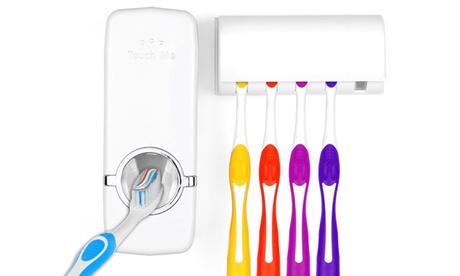One or Two Toothbrush and Toothpaste Holders