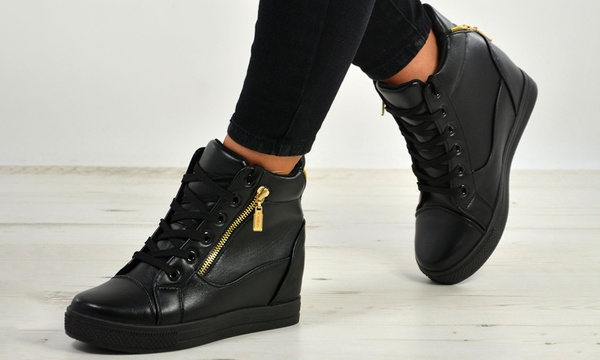 Women's High Top Wedge Trainers