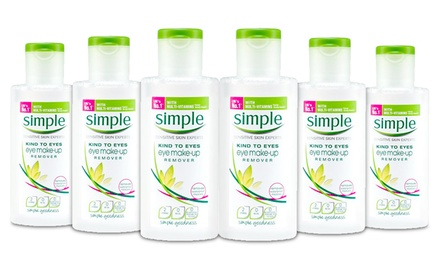 Six Simple Kind to Eyes Eye Make-Up Remover 125ml Bottles