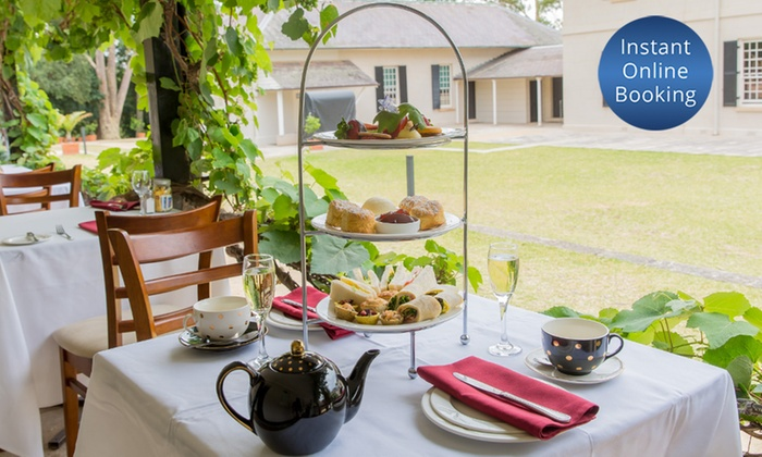 Lachlan's Old Government House - Parramatta: Sparkling High Tea for Two ($59), Four ($135) or Six People ($199) at Lachlan's Old Government House (Up to $318 Value)