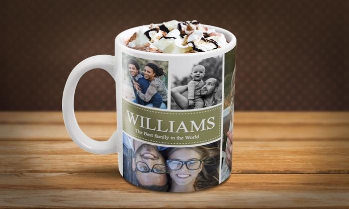 personalised photo collage mug groupon