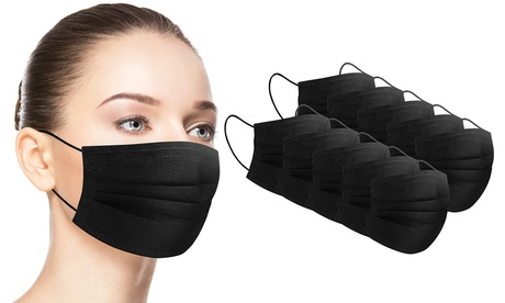 Disposable Non-medical 3-Ply Black Face Masks (50-Pack)