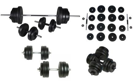 Halters en/of dumbbell tot 60,5 kg, verkrijgbaar in verschillende modellen