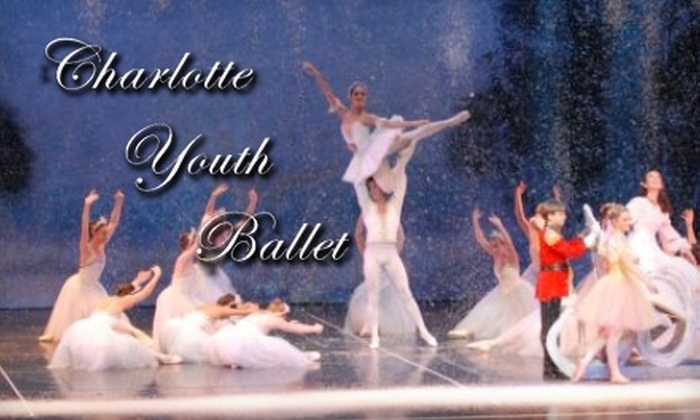 """Charlotte Youth Ballet - Elizabeth: $12 for Front Orchestra Seating at """"The Nutcracker"""" by Charlotte Youth Ballet ($25 value). Two Dates Available."""