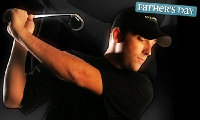 Striker Golf - Appleridge Estates: Round in an HD Golf Simulator and Driving-Range and Putting-Green Access or a Swing Evaluation at Striker Golf in Wheat Ridge