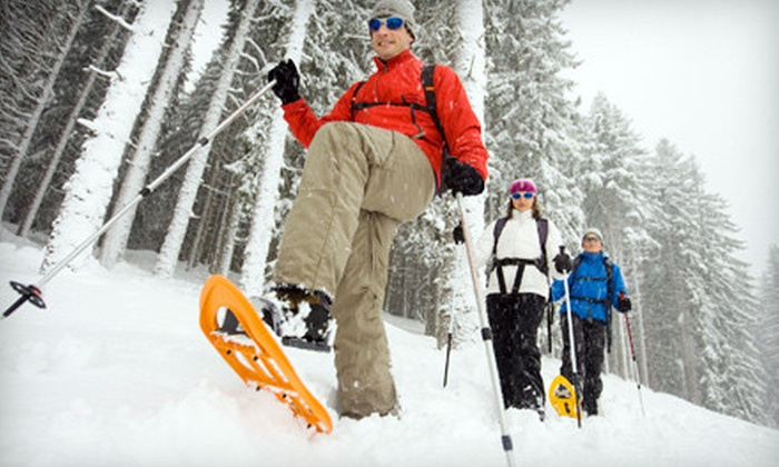 Blackcomb Adventures - Whistler Blackcomb Snowmobile - Snowshoe: Scenic Trapper's Trail Snowshoe Tour for Two or Four from Blackcomb Adventures in Whistler (Up to Half Off)
