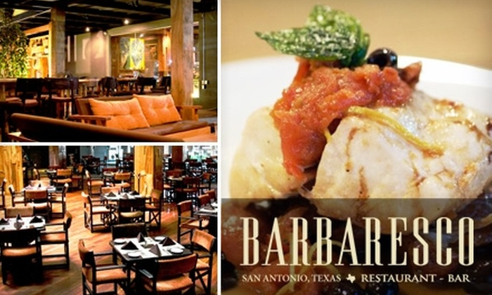 Barbaresco Restaurant and Bar - Uptown Loop: $16 for $35 Worth of Fine Italian Fare and Drinks at Barbaresco Restaurant and Bar