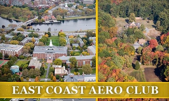 East Coast Aero Club - Lincoln: $99 for a Boston Fall Foliage Helicopter Tour from East Coast Aero Club ($199 Value)