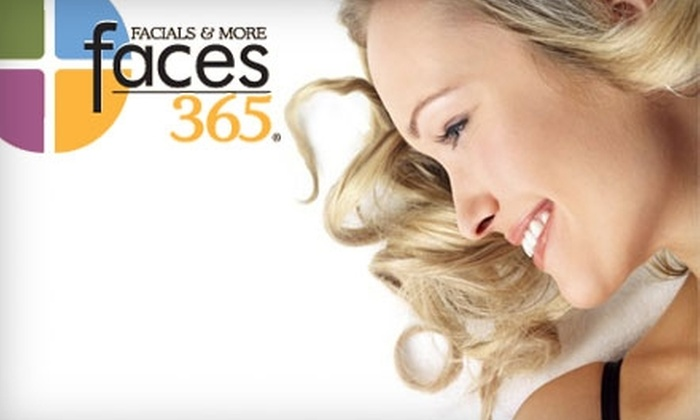 Faces365 - Multiple Locations: $35 for $80 Worth of Spa Services at Faces365. Choose from Three Locations.