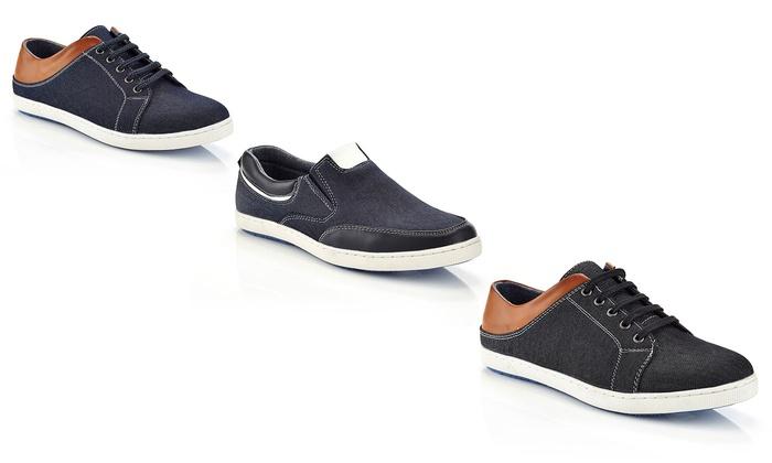 Marco Vitale Men's Low Top Fashion Sneakers