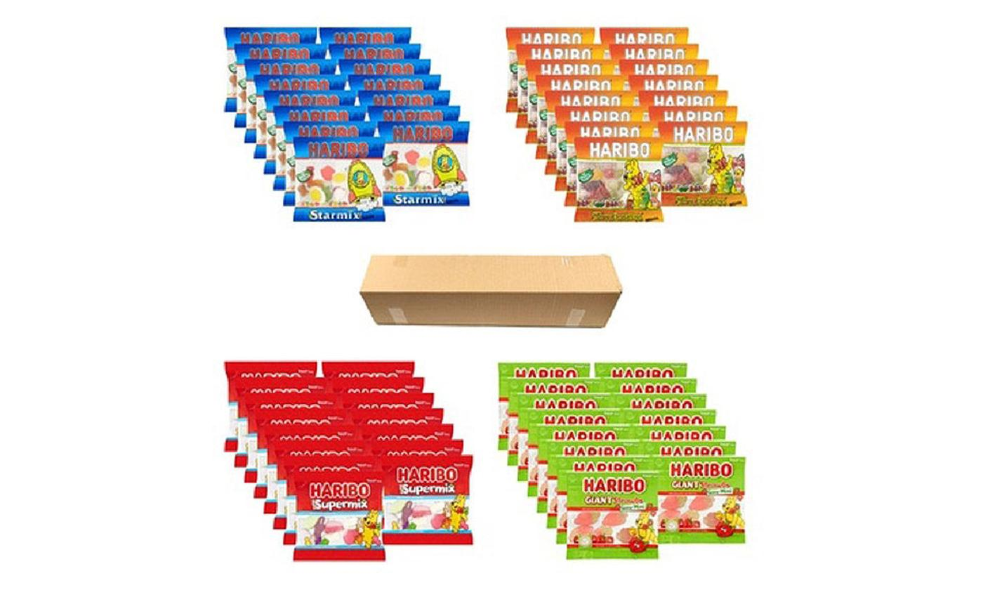 One or Two Ultimate Haribo Mini Bags Sweets Hampers (60 Packs)