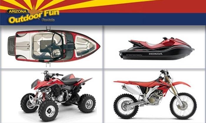 Arizona Outdoor Fun - Multiple Locations: $85 for ATV Adventure at Arizona Outdoor Fun Rentals (Up to $375 Value)