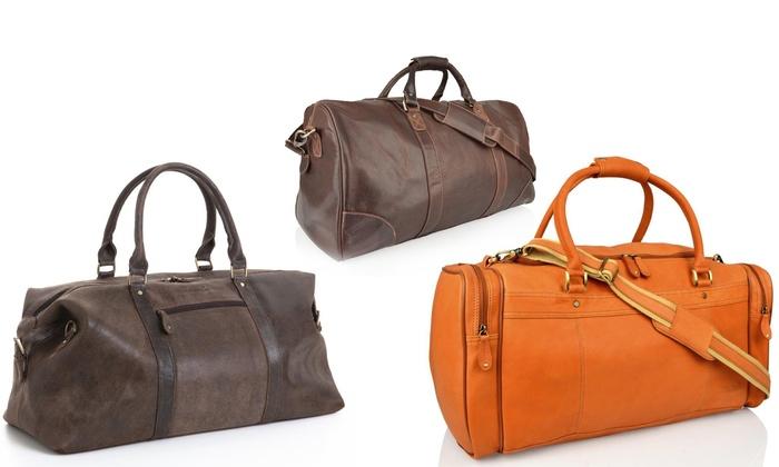 Men s Leather Weekend Travel Bags  ee4d7b173721c